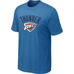 Oklahoma City Thunder Big & Tall Tee-Shirt d'équipe de NBA - Bleu clair pour Homme