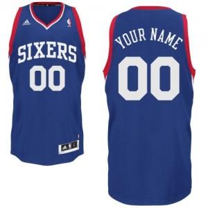 Philadelphia 76ers Swingman Personnalisé Alternate Maillot d'équipe de NBA - Bleu royal pour Enfants