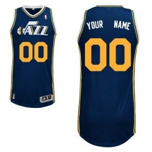 Utah Jazz Authentic Personnalisé Road Maillot d'équipe de NBA - Bleu marin pour Enfants