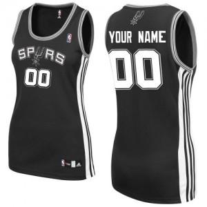 San Antonio Spurs Authentic Personnalisé Road Maillot d'équipe de NBA - Noir pour Femme