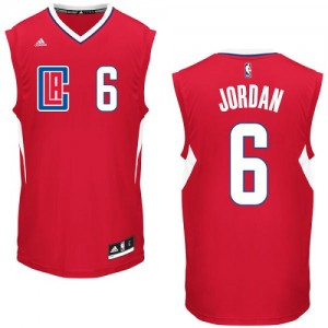Maillot Adidas Rouge Road Swingman Los Angeles Clippers - DeAndre Jordan #6 - Homme