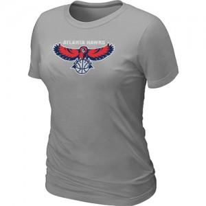 T-shirt principal de logo Atlanta Hawks NBA Big & Tall Gris - Femme