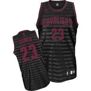 Maillot Swingman Cleveland Cavaliers NBA Groove Gris noir - #23 LeBron James - Enfants