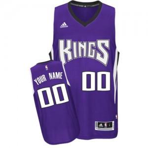 Sacramento Kings Personnalisé Adidas Road Violet Maillot d'équipe de NBA préférentiel - Swingman pour Homme