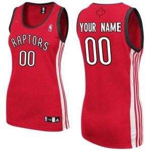 Maillot NBA Authentic Personnalisé Toronto Raptors Road Rouge - Femme