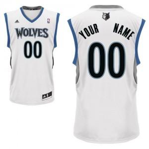 Maillot NBA Minnesota Timberwolves Personnalisé Swingman Blanc Adidas Home - Homme