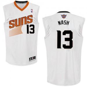 Maillot Adidas Blanc Home Authentic Phoenix Suns - Steve Nash #13 - Femme