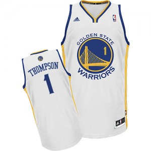 Maillot NBA Blanc Jason Thompson #1 Golden State Warriors Home Swingman Homme Adidas