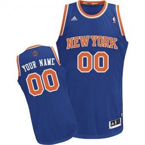 Maillot Adidas Bleu royal Road New York Knicks - Swingman Personnalisé - Homme