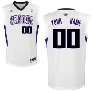 Maillot NBA Sacramento Kings Personnalisé Swingman Blanc Adidas Home - Homme