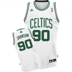 Maillot NBA Blanc Amir Johnson #90 Boston Celtics Home Swingman Homme Adidas
