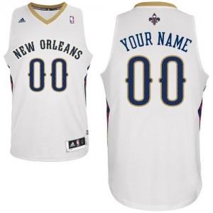 Maillot NBA New Orleans Pelicans Personnalisé Swingman Blanc Adidas Home - Femme