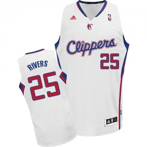 Maillot NBA Los Angeles Clippers #25 Austin Rivers Blanc Adidas Swingman Home - Homme