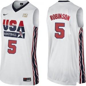 Maillot NBA Swingman David Robinson #5 Team USA 2012 Olympic Retro Blanc - Homme