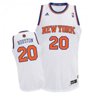 Maillot NBA New York Knicks #20 Allan Houston Blanc Adidas Swingman Home - Homme