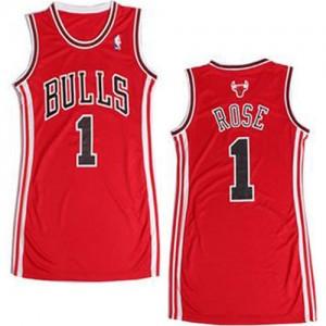 Maillot Swingman Chicago Bulls NBA Dress Rouge - #1 Derrick Rose - Femme
