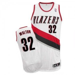 Maillot NBA Authentic Bill Walton #32 Portland Trail Blazers Home Blanc - Homme