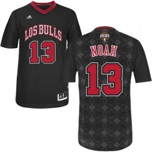 Chicago Bulls #13 Adidas New Latin Nights Noir Authentic Maillot d'équipe de NBA Braderie - Joakim Noah pour Homme