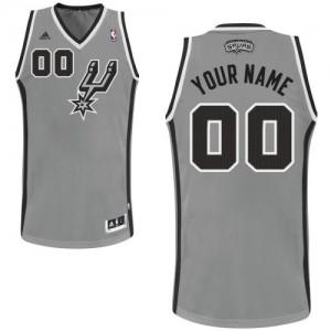 San Antonio Spurs Personnalisé Adidas Alternate Gris argenté Maillot d'équipe de NBA Soldes discount - Swingman pour Femme