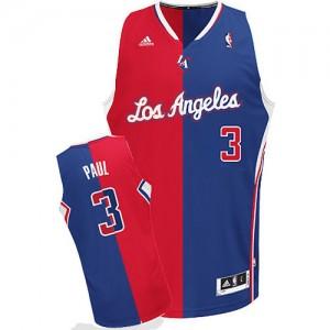 Los Angeles Clippers Chris Paul #3 Split Fashion Swingman Maillot d'équipe de NBA - Rouge Bleu pour Homme