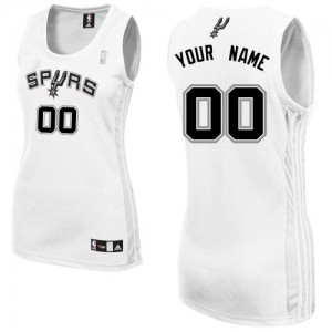 Maillot NBA Authentic Personnalisé San Antonio Spurs Home Blanc - Femme