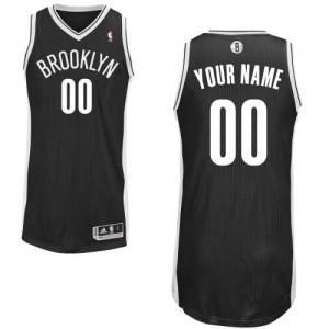 Brooklyn Nets Personnalisé Adidas Road Noir Maillot d'équipe de NBA Magasin d'usine - Authentic pour Enfants