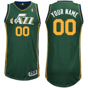 Maillot NBA Utah Jazz Personnalisé Authentic Vert Adidas Alternate - Enfants