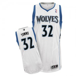 Maillot NBA Blanc Karl-Anthony Towns #32 Minnesota Timberwolves Home Authentic Homme Adidas