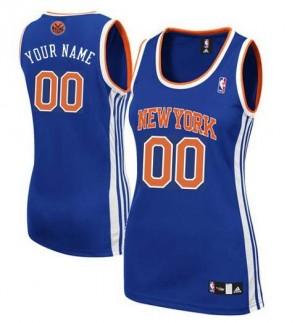 Maillot NBA Authentic Personnalisé New York Knicks Road Bleu royal - Femme