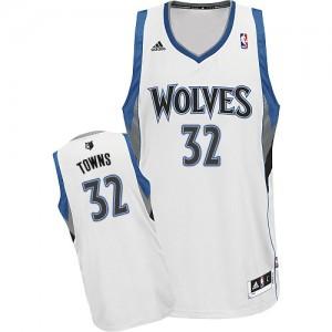Maillot Adidas Blanc Home Swingman Minnesota Timberwolves - Karl-Anthony Towns #32 - Homme