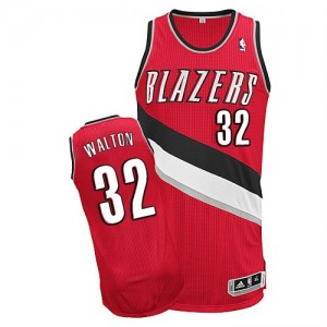 Portland Trail Blazers Bill Walton #32 Alternate Authentic Maillot d'équipe de NBA - Rouge pour Homme