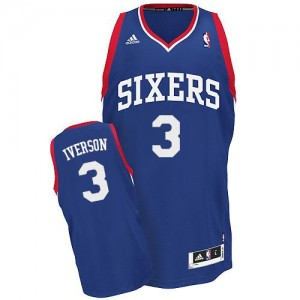 Maillot NBA Swingman Allen Iverson #3 Philadelphia 76ers Alternate Bleu royal - Homme