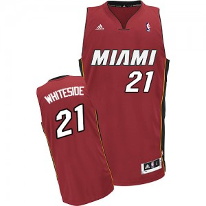 Miami Heat Hassan Whiteside #21 Alternate Swingman Maillot d'équipe de NBA - Rouge pour Homme