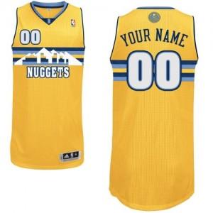 Denver Nuggets Authentic Personnalisé Alternate Maillot d'équipe de NBA - Or pour Enfants