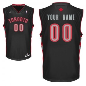 Toronto Raptors Personnalisé Adidas Alternate Noir Maillot d'équipe de NBA la meilleure qualité - Swingman pour Enfants