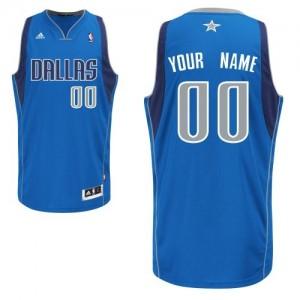 Maillot Adidas Bleu royal Road Dallas Mavericks - Swingman Personnalisé - Homme