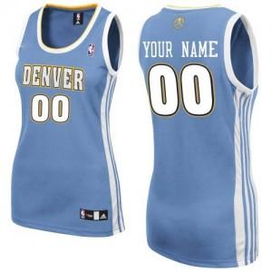 Denver Nuggets Authentic Personnalisé Road Maillot d'équipe de NBA - Bleu clair pour Femme