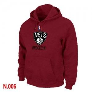 Brooklyn Nets Sweat à capuche d'équipe de NBA - Rouge pour Homme