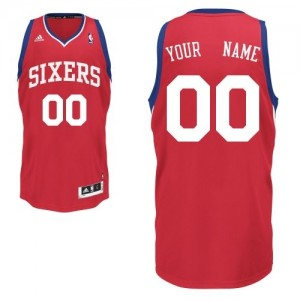Philadelphia 76ers Personnalisé Adidas Road Rouge Maillot d'équipe de NBA achats en ligne - Swingman pour Enfants