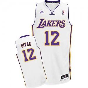 Maillot NBA Swingman Vlade Divac #12 Los Angeles Lakers Alternate Blanc - Homme