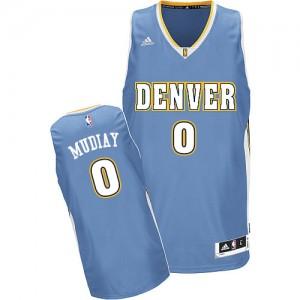 Denver Nuggets #0 Adidas Road Bleu clair Swingman Maillot d'équipe de NBA 100% authentique - Emmanuel Mudiay pour Homme