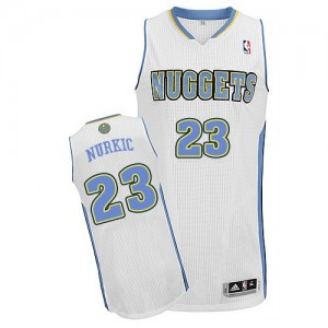 Maillot NBA Blanc Jusuf Nurkic #23 Denver Nuggets Home Authentic Homme Adidas