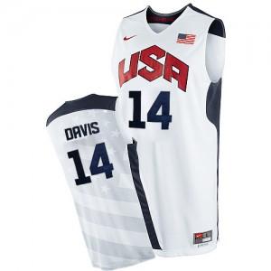 Maillot Nike Blanc 2012 Olympics Swingman Team USA - Anthony Davis #14 - Homme