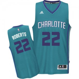Maillot NBA Bleu clair Brian Roberts #22 Charlotte Hornets Road Swingman Homme Adidas