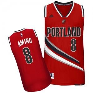 Maillot NBA Portland Trail Blazers #8 Al-Farouq Aminu Rouge Adidas Swingman Alternate - Homme