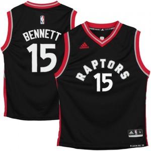 Toronto Raptors Anthony Bennett #15 Authentic Maillot d'équipe de NBA - Noir pour Homme