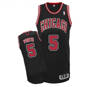 Chicago Bulls Bobby Portis #5 Alternate Authentic Maillot d'équipe de NBA - Noir pour Homme