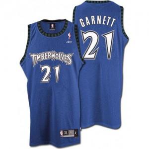 Minnesota Timberwolves #21 Throwback Slate Blue Authentic Maillot d'équipe de NBA en ligne - Kevin Garnett pour Homme