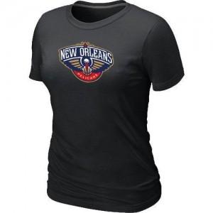 New Orleans Pelicans Big & Tall Noir Tee-Shirt d'équipe de NBA préférentiel - pour Femme
