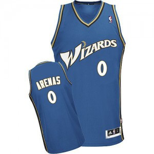 Washington Wizards Gilbert Arenas #0 Authentic Maillot d'équipe de NBA - Bleu pour Homme